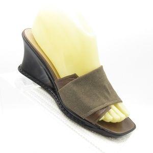 Stuart Weitzman Size 7 N Wedge Heels Slide Sandals
